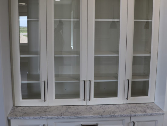 418 - kitchen china cabinet built in